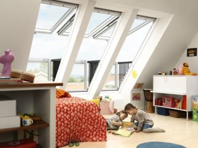 Střešní balkony a terasy, zdroj: velux.cz
