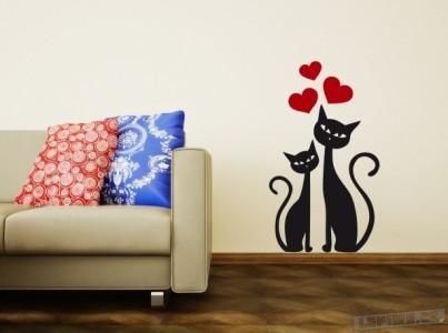 Samolepky na zeď s motivy koček, kocourů a koťat